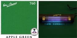 Сукно Iwan Simonis 760, 195 см Apple Green (Бельгия)