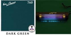 Сукно Iwan Simonis 760, 195 см Dark Green (Бельгия)